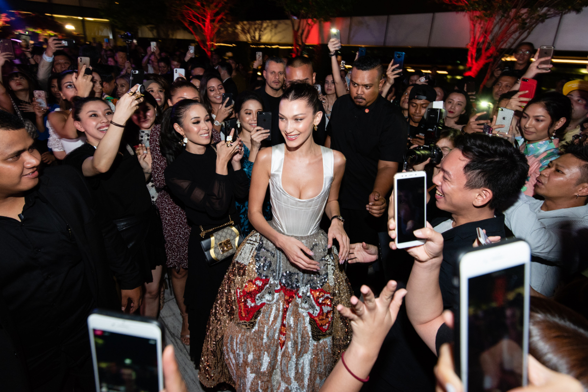 Bella Hadid Makes A Big Splash In Kuala Lumpur