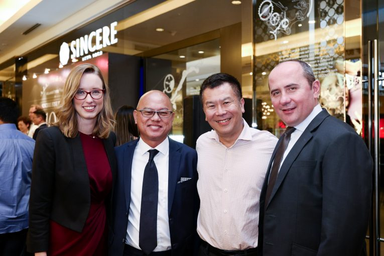 L-R: Alexis De Laporte, International Director of A. Lange & Söhne; Robert Hoffmann, watchmaker and head of the Zeitwerk department at A. Lange & Söhne; Anne Schaal; Ong Ban, CEO of Sincere Fine Watches; and Gary Chow, General Manager of Sincere Fine Watches Malaysia