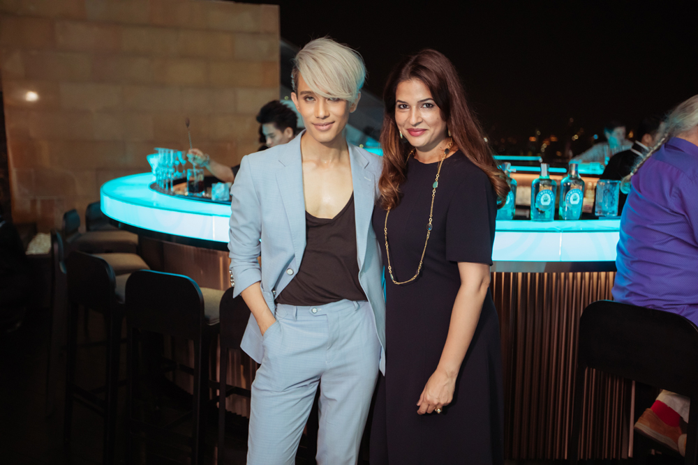 Piyarat Kaljaruek and Holly Lacsher at the opening event of lebua No.3