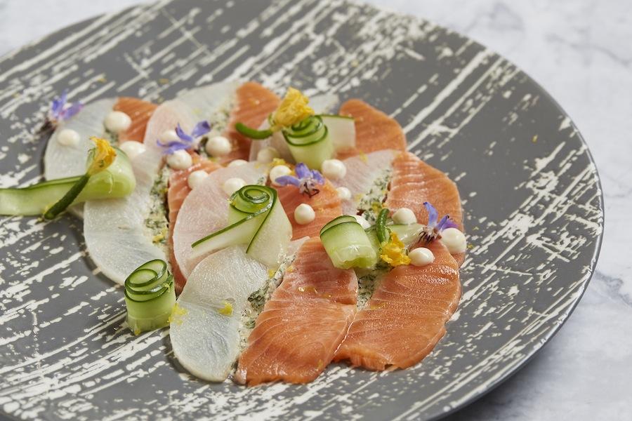 Salmon and Halibut Carpaccio