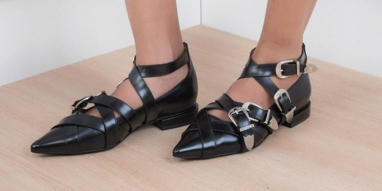 Black Glam Heel Boots by Yuul Yie. Available on masarishop.com