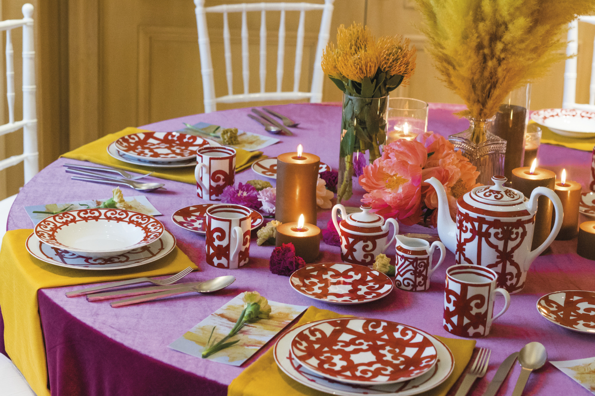 Wild Colours for the New Year's Table Setting by Alexander Gotama