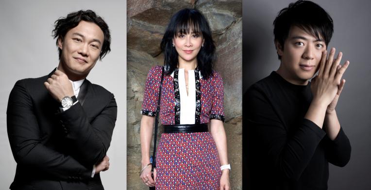Eason Chan, Carina Lau and Lang Lang