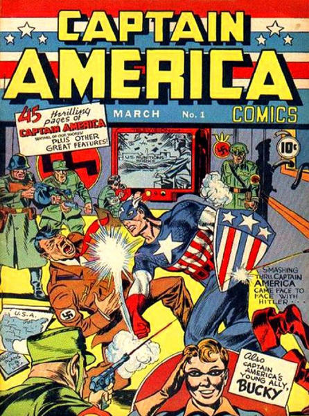 An original Captain America comic