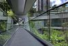 One of the outdoor walkways at The Asia Society Hong Kong Center