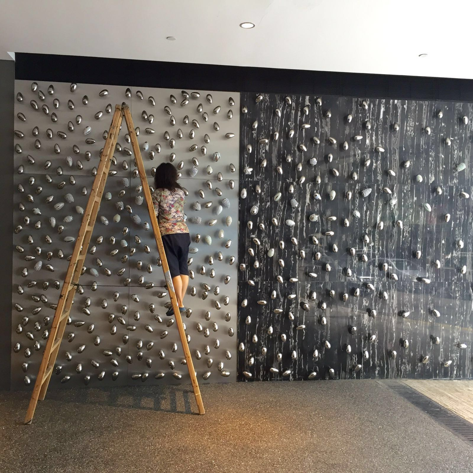 "Movana Chen installs ""Floating Identity"" at Ovolo Southside"