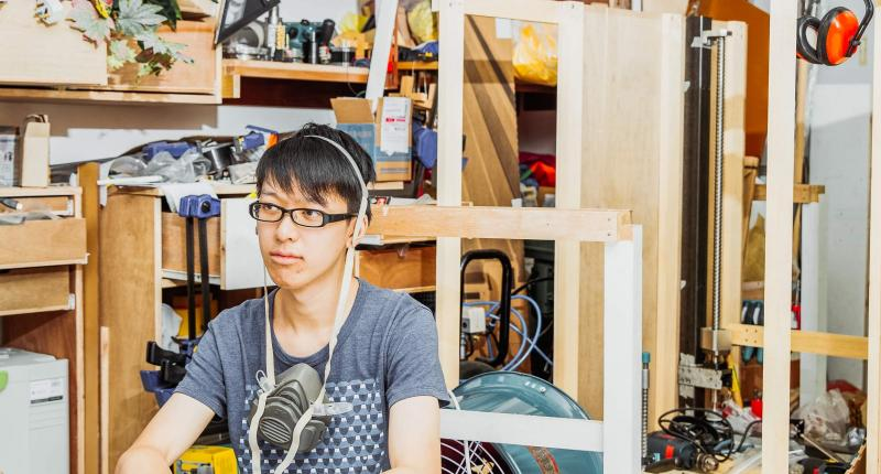 Tung Wing-hong in his studio. Photo: Until Chan
