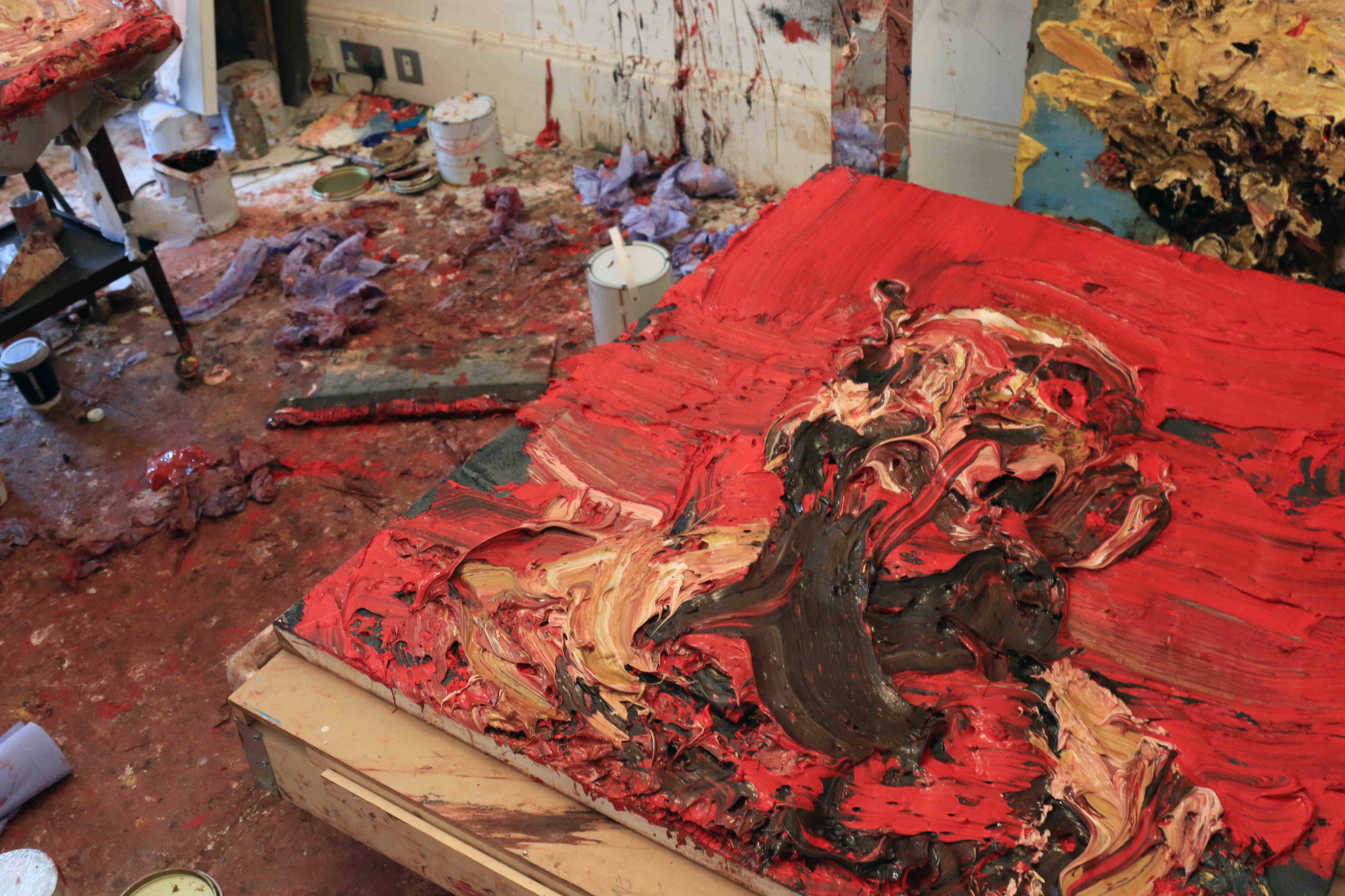A scene in Antony Micallef's studio. Photo: Thomas Butler