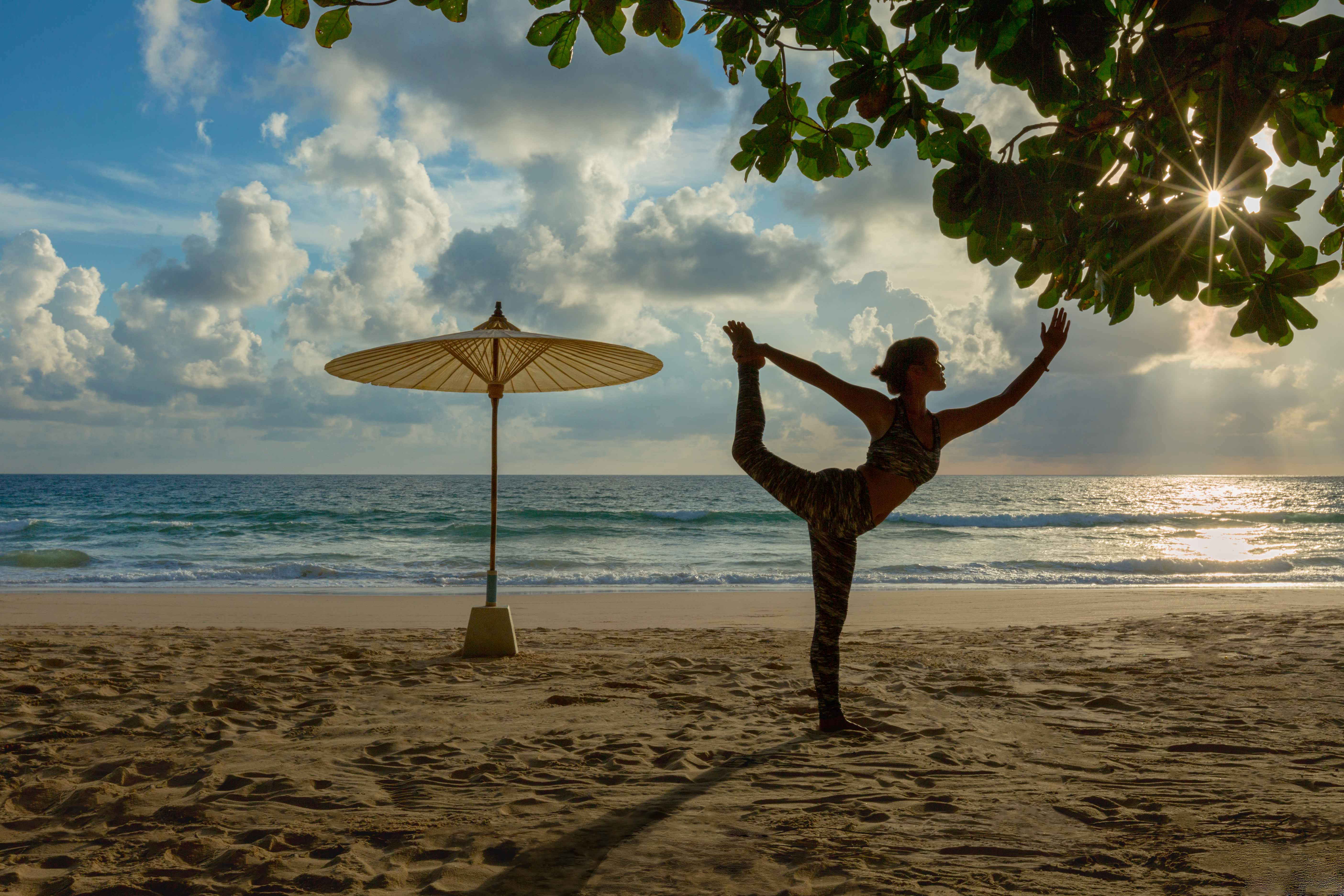 Yoga on the beach at The LifeCo Phuket