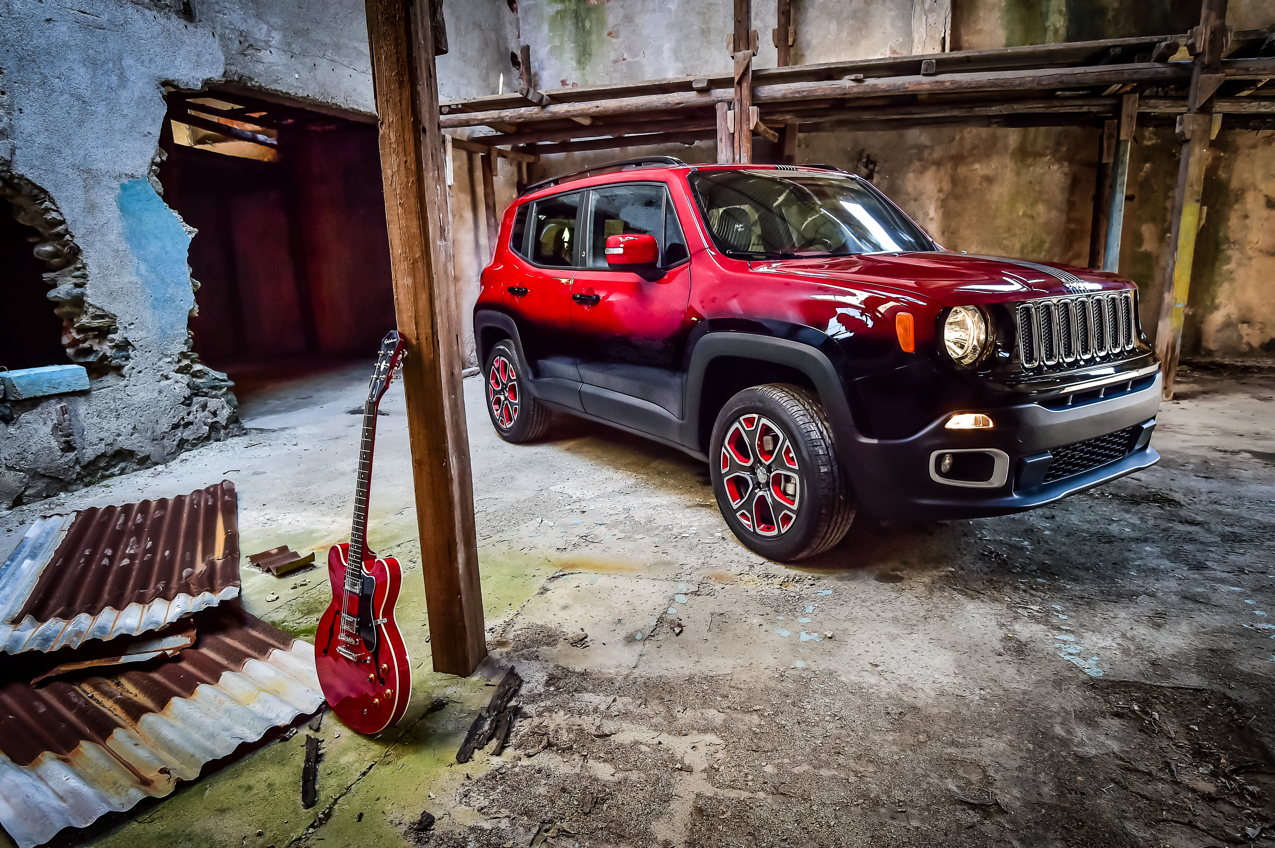 A Renegade Jeep customised for the Montreux Jazz Festival