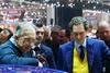 Fiat Chief Executive Sergio Marchionne and Chairman John Elkann
