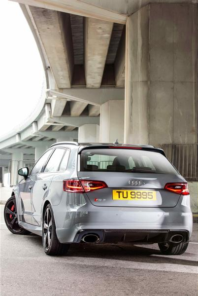 Tell-tale Signs at the Rear Include the RS Badge, an Under-Bumper Diffuser and Twin Oval Tailpipes