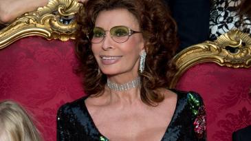 Sophia Loren at Dolce & Gabbana's Alta Moda show