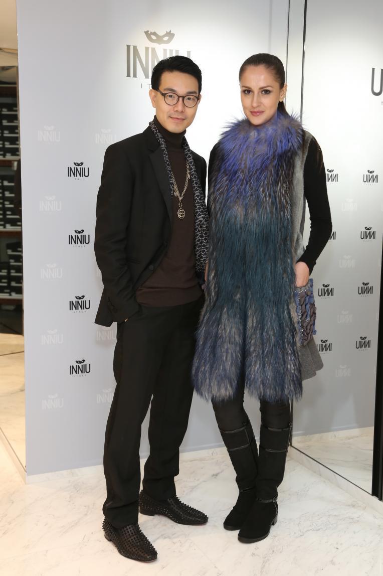 Ricky Kwok (left) with model