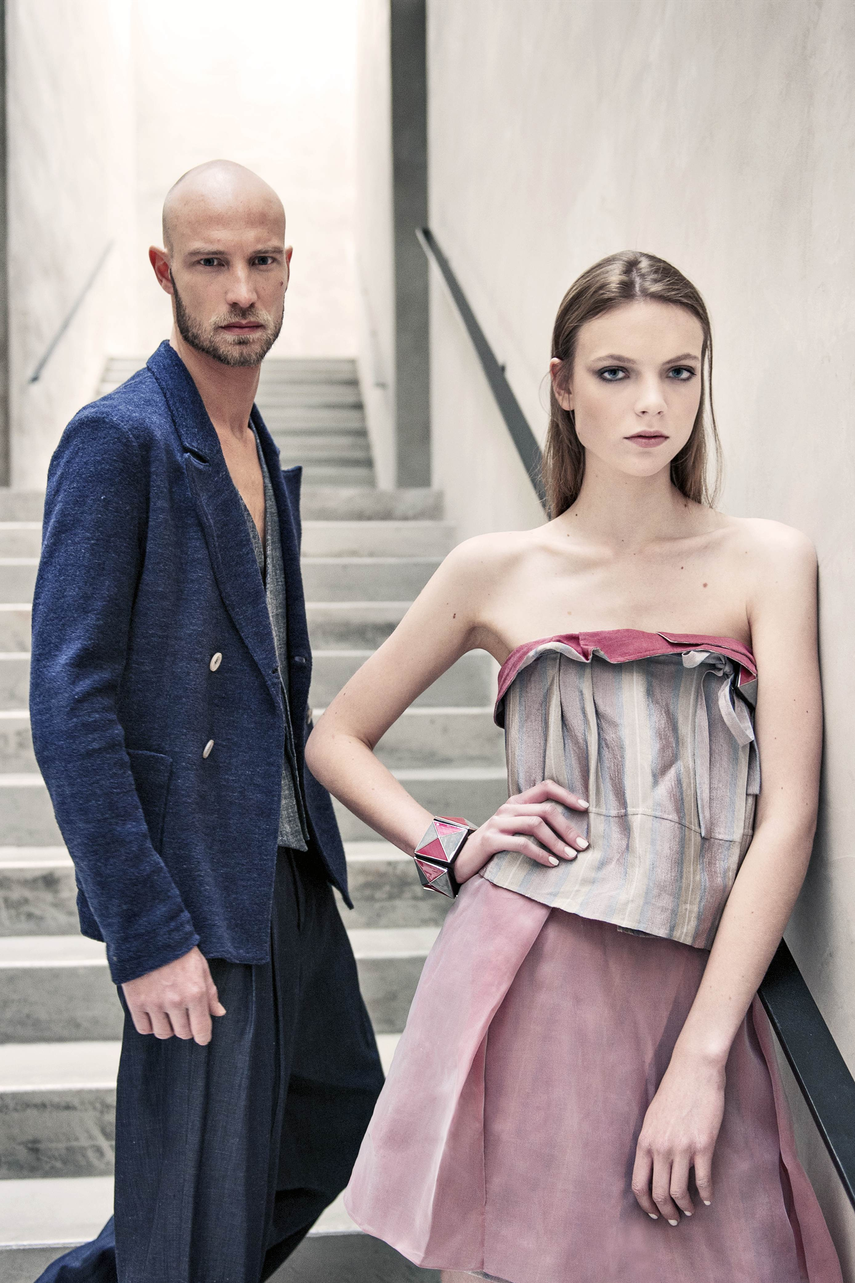 Looks from Armani's spring/summer 2016 collection