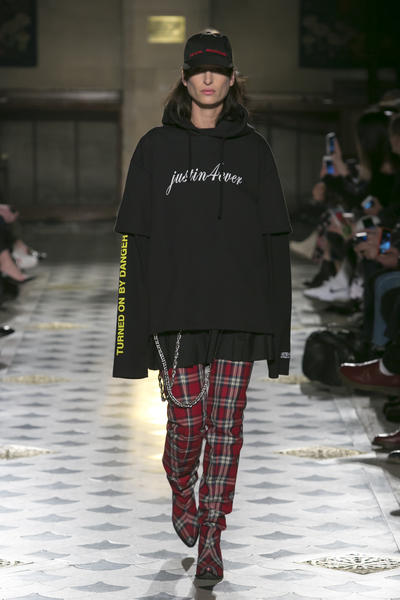 A look from Vetements' autumn/winter 2016 collection