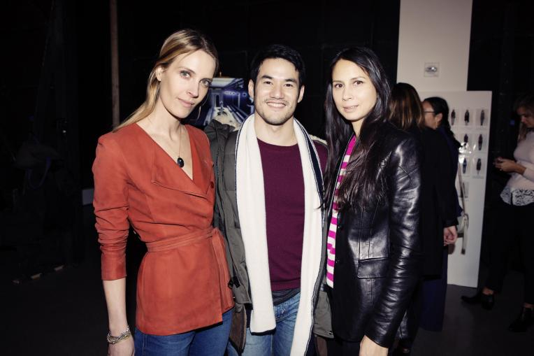 Joseph Altuzarra with Vanessa Traina (left) and Melanie Huynh