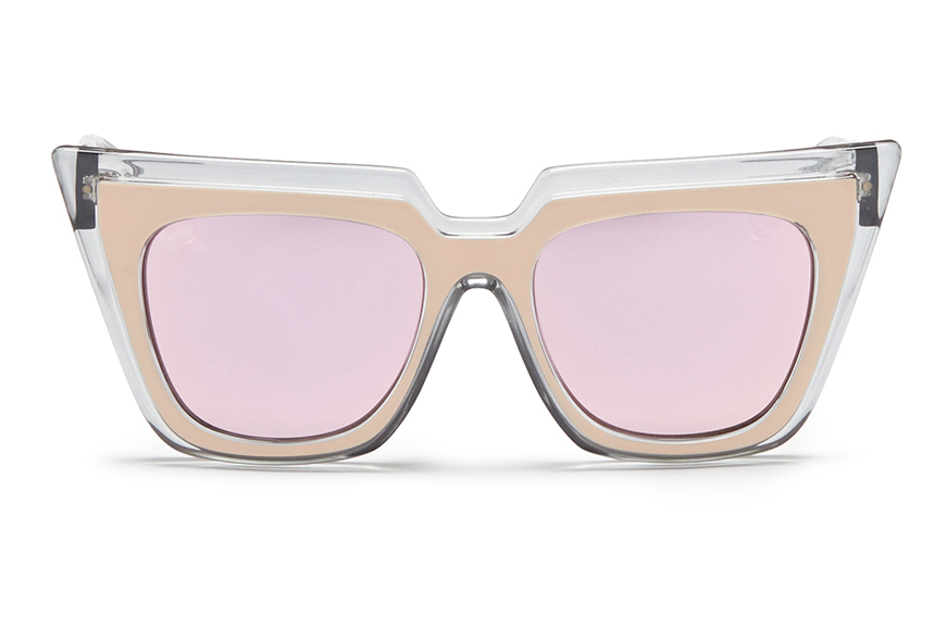 A pair of sunglasses Han Chong designed with Le Specs Luxe