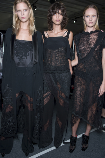 Backstage at Givenchy by Riccardo Tisci