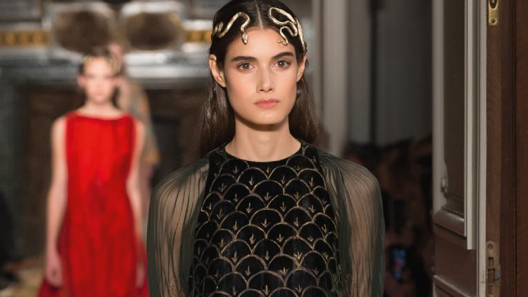 A look from Valentino's Spring 2016 couture show