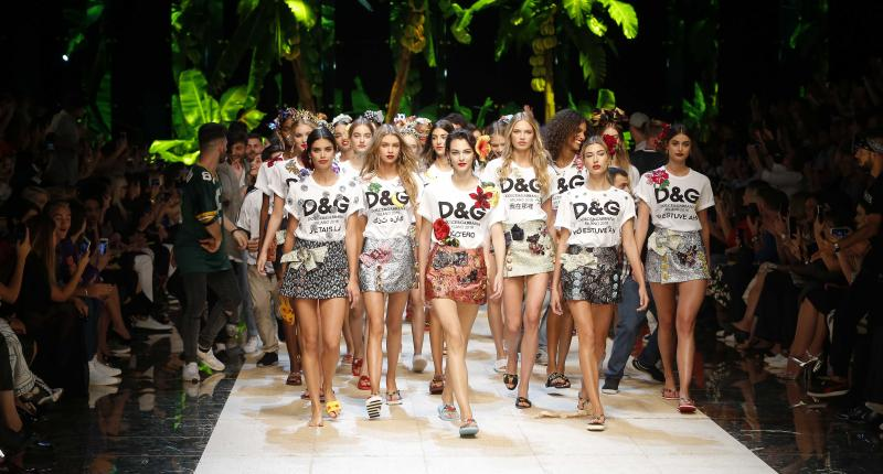 The finale of the Dolce & Gabbana spring/summer 2017 show