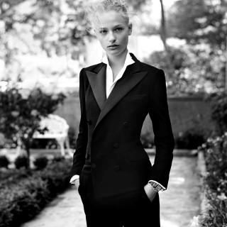 Frederikke Sofie wearing Ralph Lauren's tuxedo