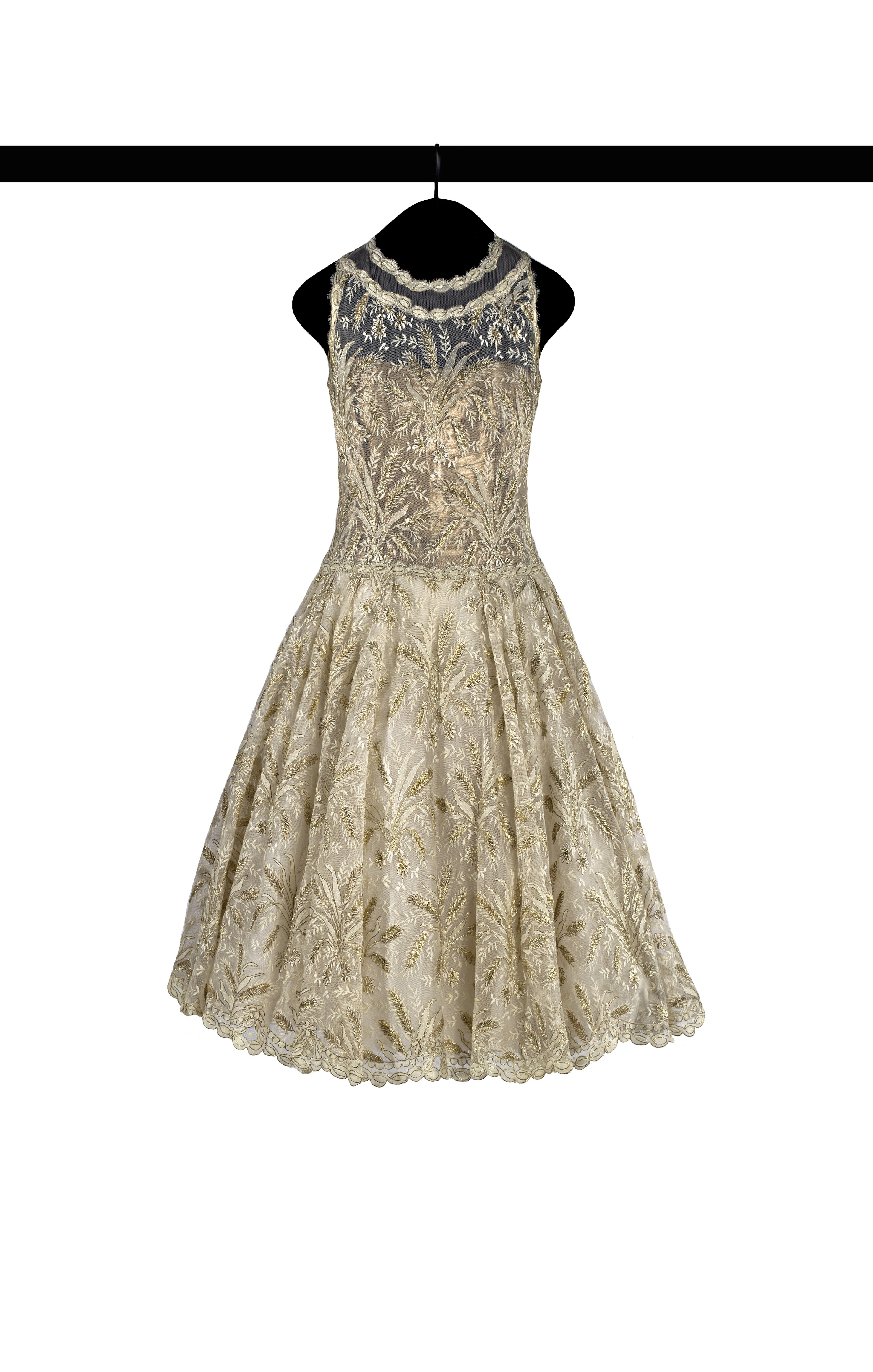 Chanel 1960 spring summer haute couture dress in ivory for 1960 s haute couture