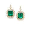 Beautiful emerald earrings weighing more than 10 carats each