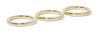 Jennifer Fisher set of three gold-plated brass rings