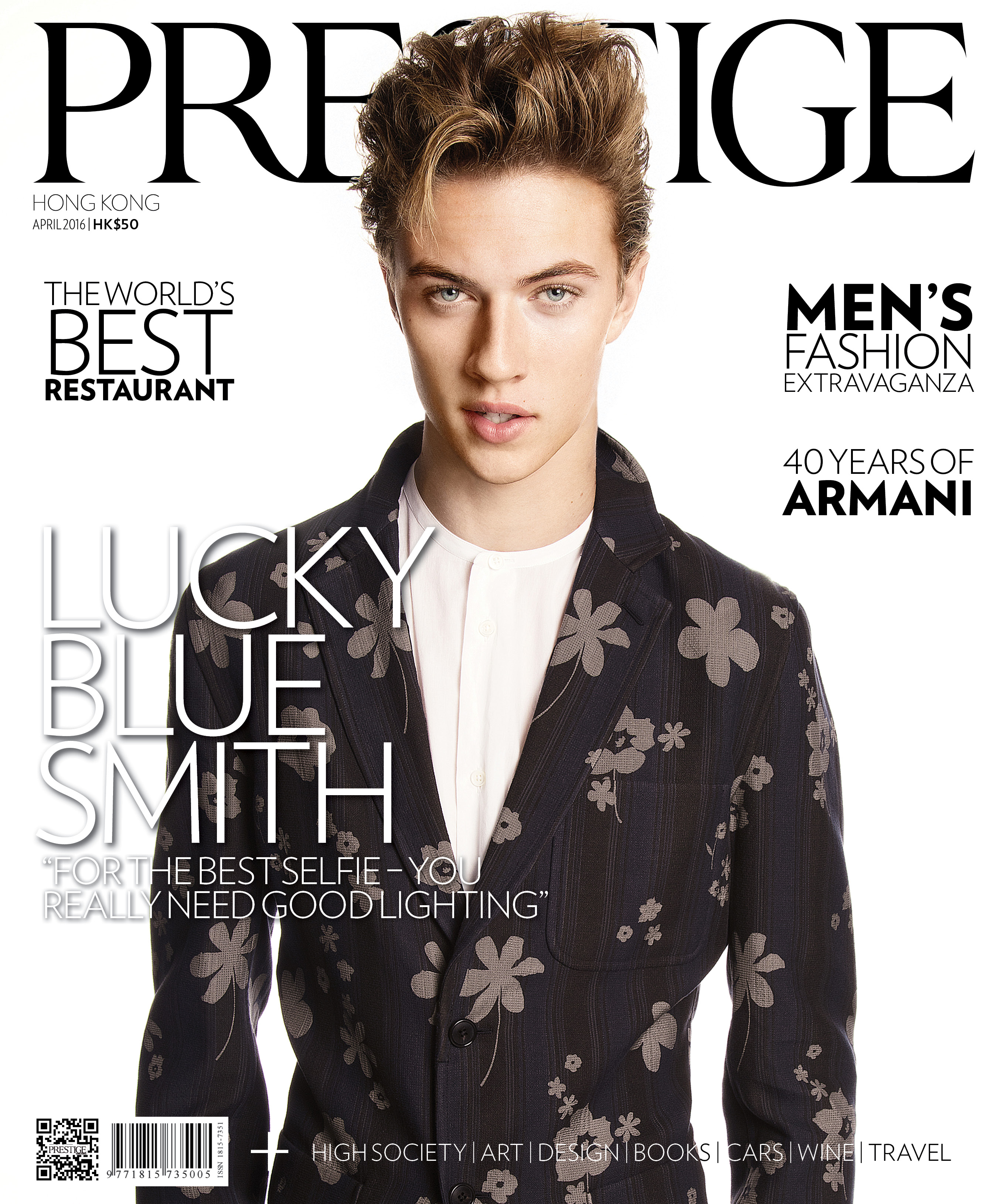 Lucky Blue Smith on our April 2016 cover