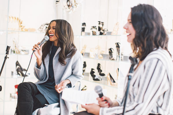 Ciara hosting an event for Topshop