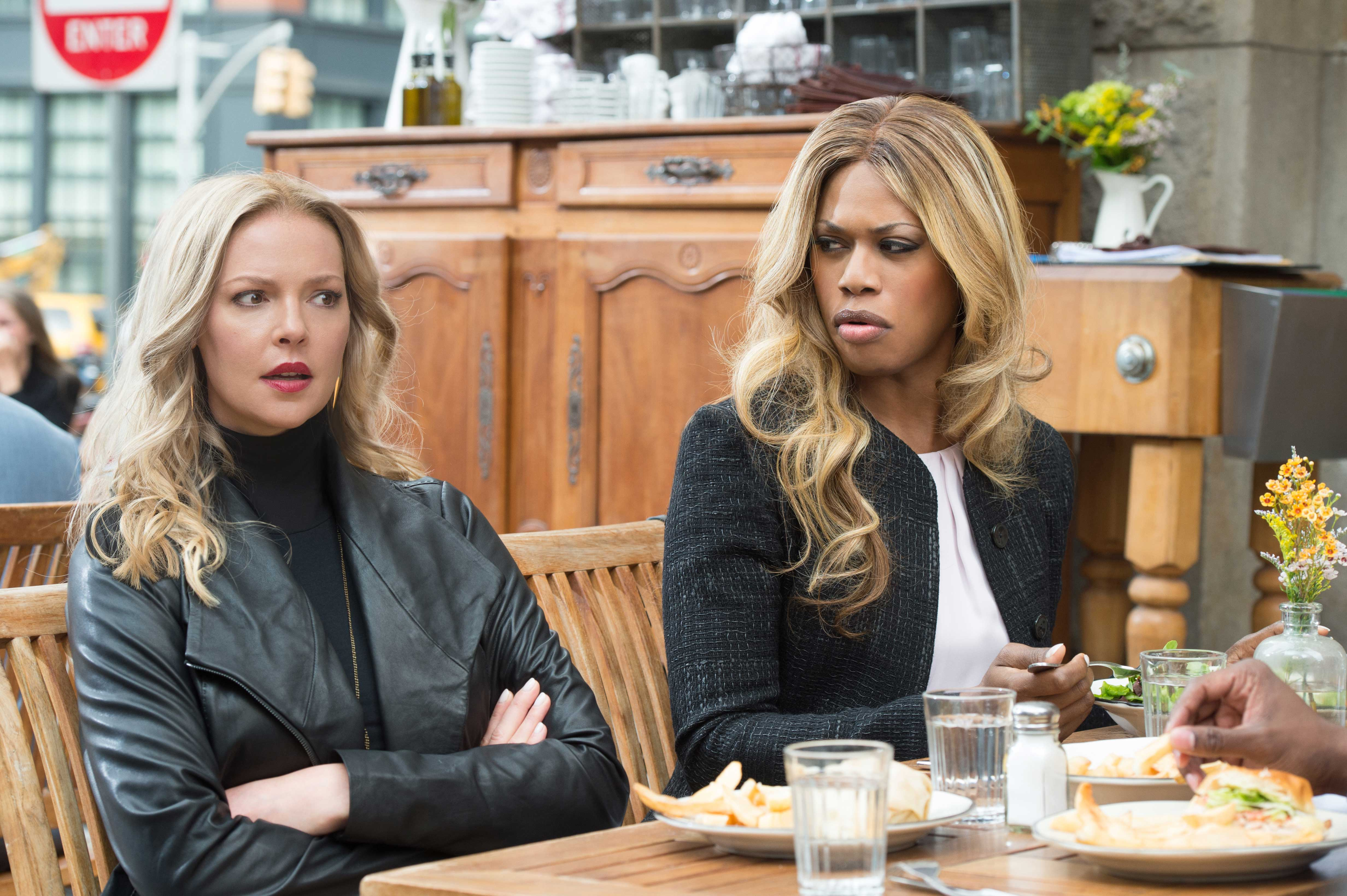 Katherine Heigl and Laverne Cox in Doubt