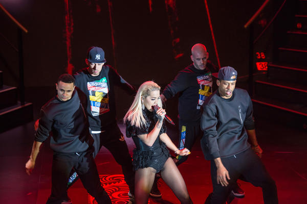 Rita Ora performing at Landmark