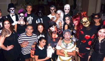 Spot the socialites at Deborah Valdez-Hung's Halloween bash last year