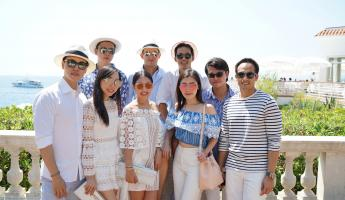 Jennifer Huang, Douglas Wang and a group of their friends on their engagement trip.
