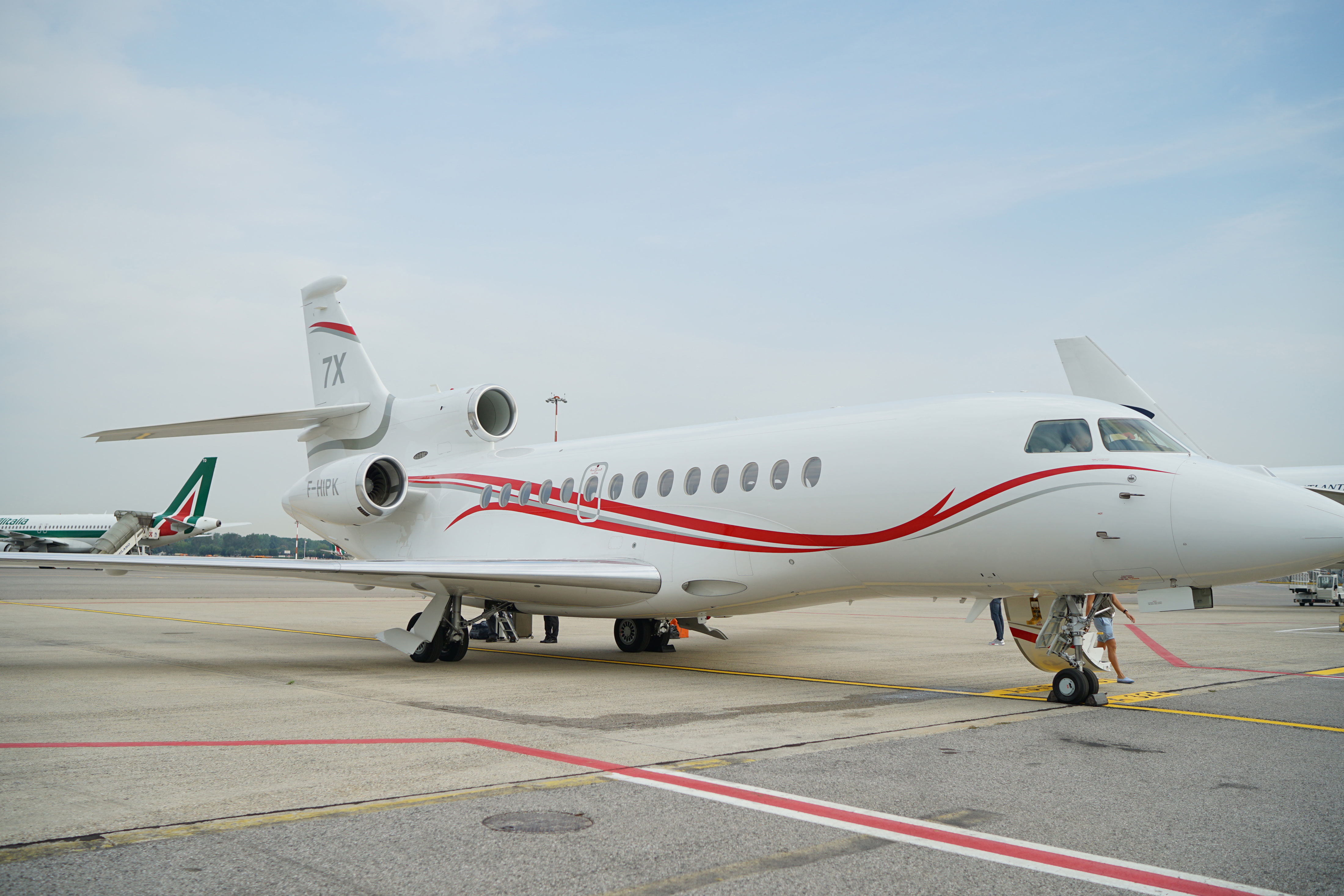 The Dassault Falcon 7X, chartered from Asian Sky Group