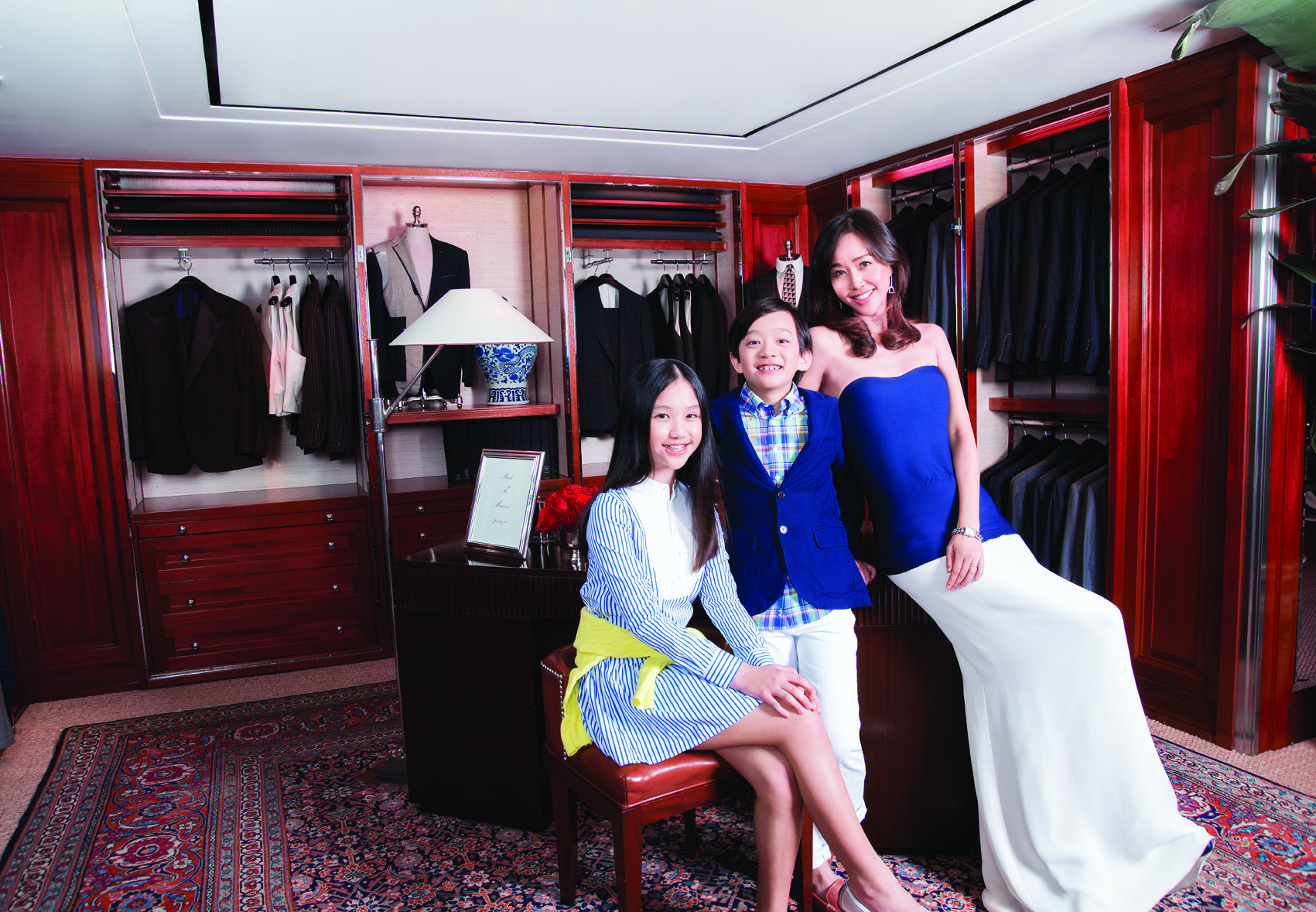 Angie Ting, Kirsten Ting and Gratian Ting all in Ralph Lauren