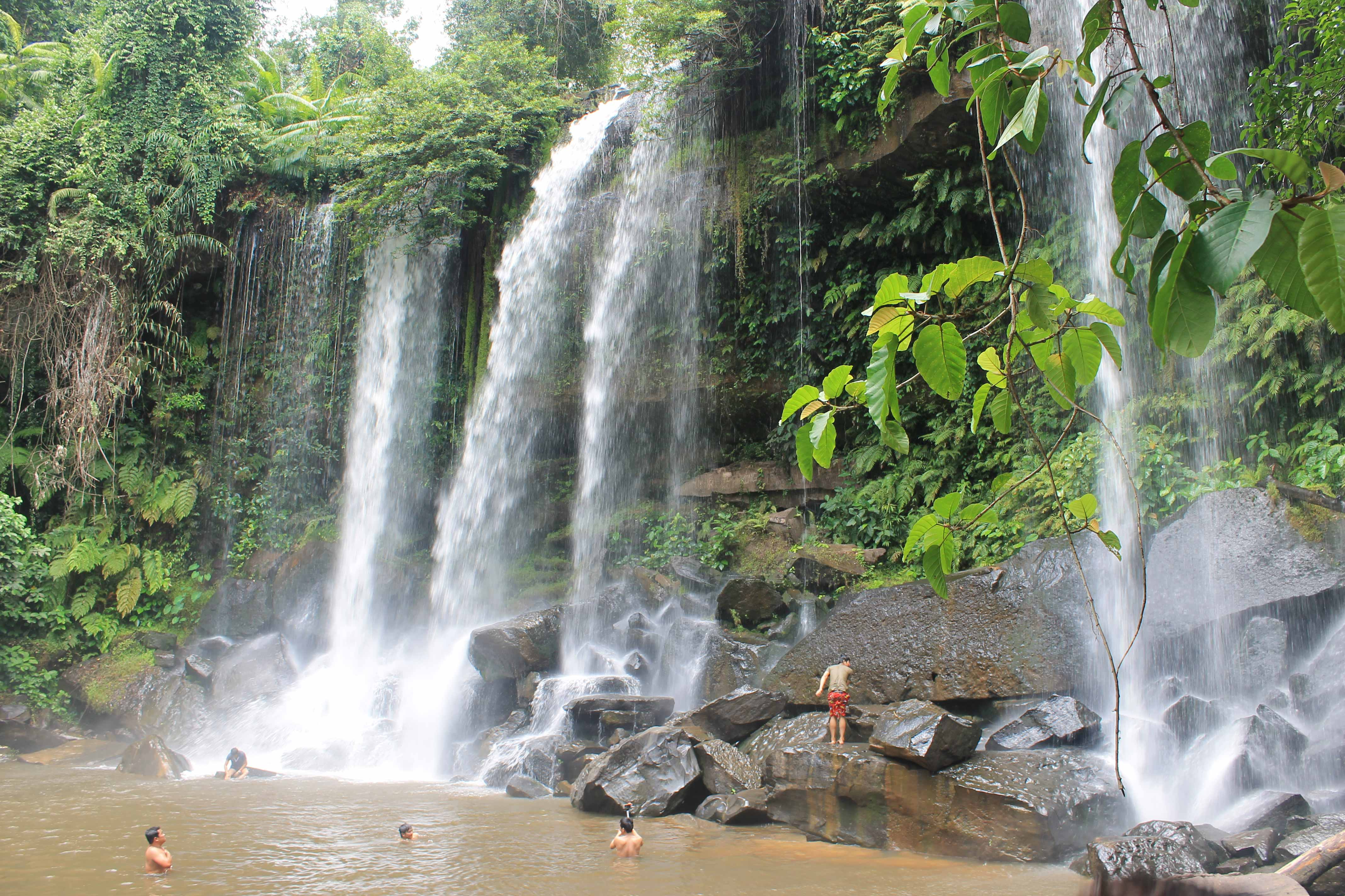 A waterfall in Phnom Kulen National Park