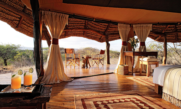 A tent at Lewa Safari Camp