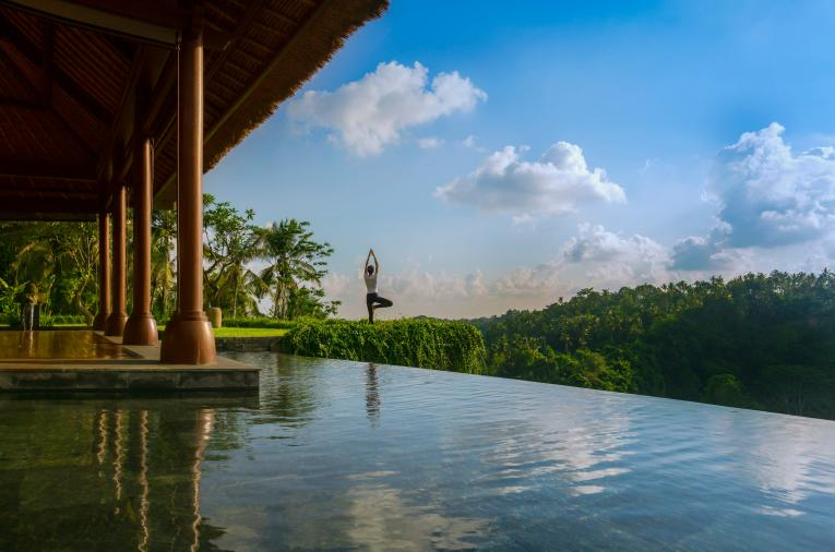 Yoga at Mandapa, a Ritz-Carlton Reserve