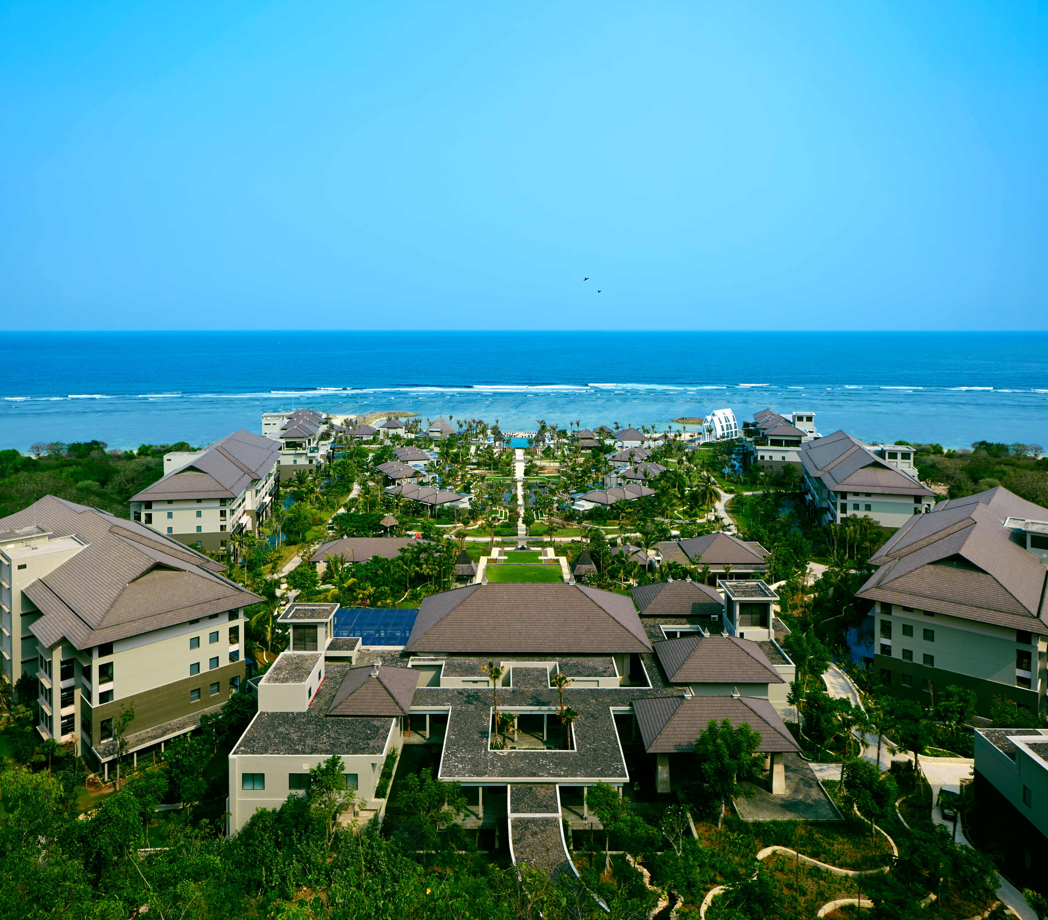 A bird's-eye view of the Ritz-Carlton, Bali