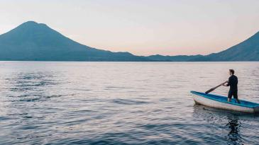 Lake Atitlan, near the Chōsen location in Guatemala