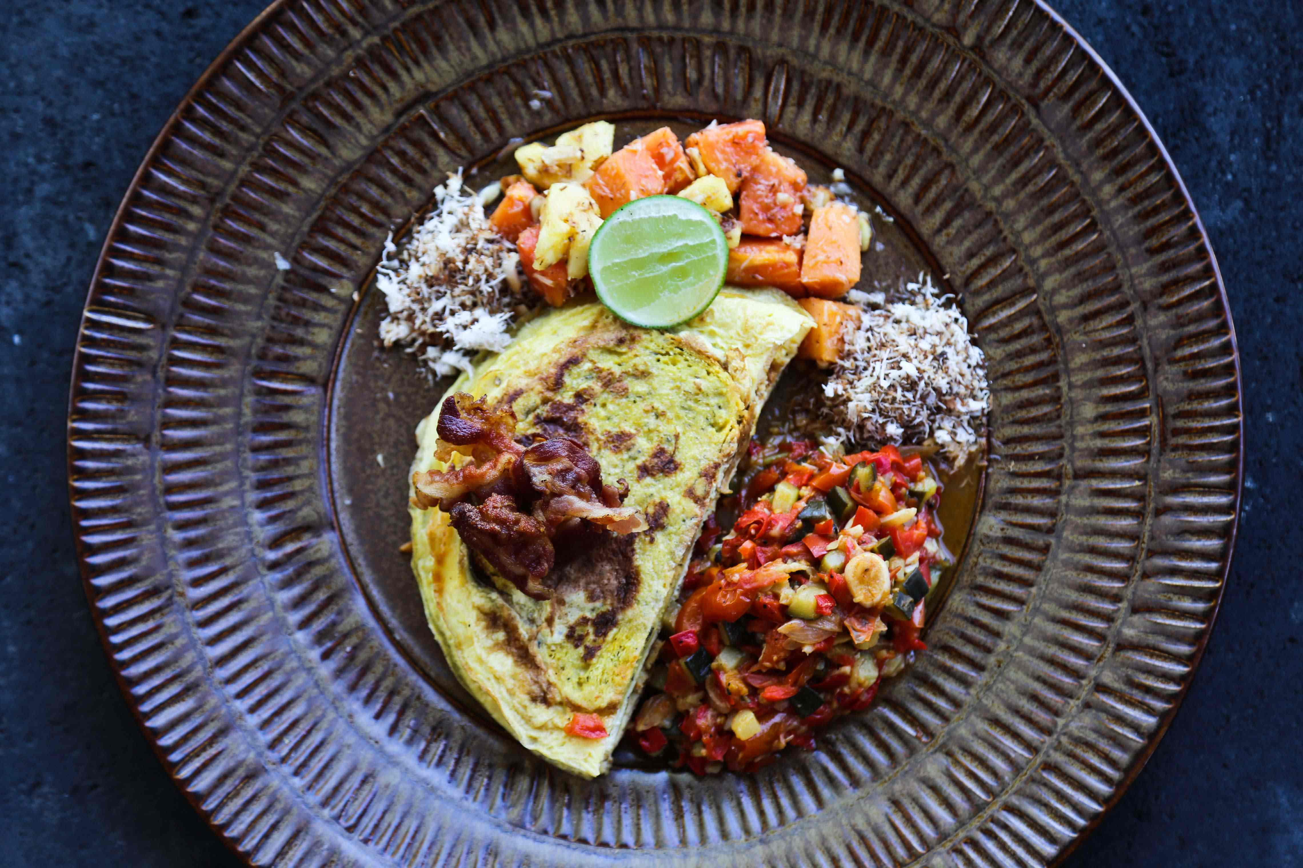 A meal cooked up by chef Josh Davies in Bali