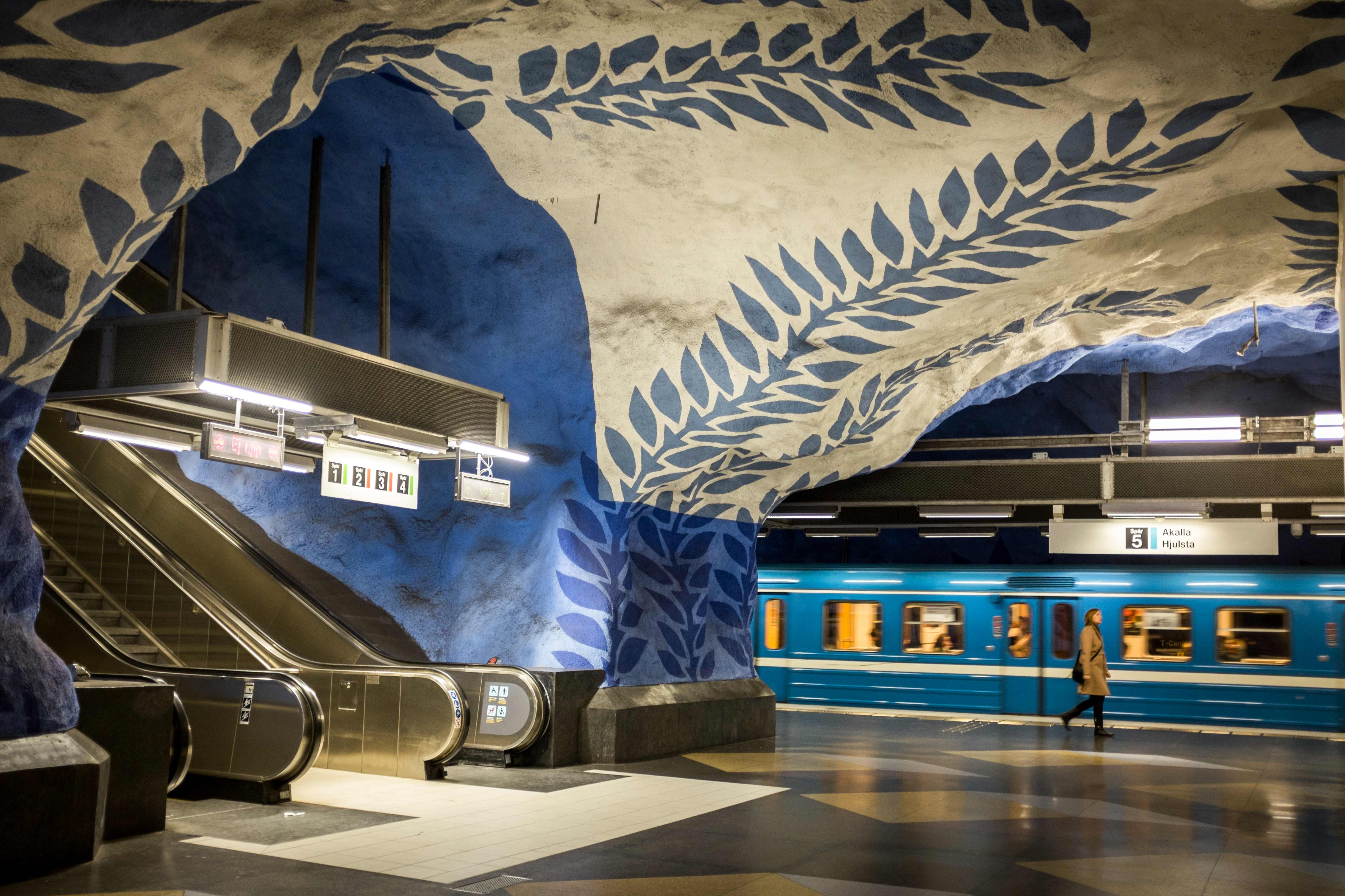 The Tunnelbana Metro In Stockholm Also Known As Worlds Longest Art Gallery