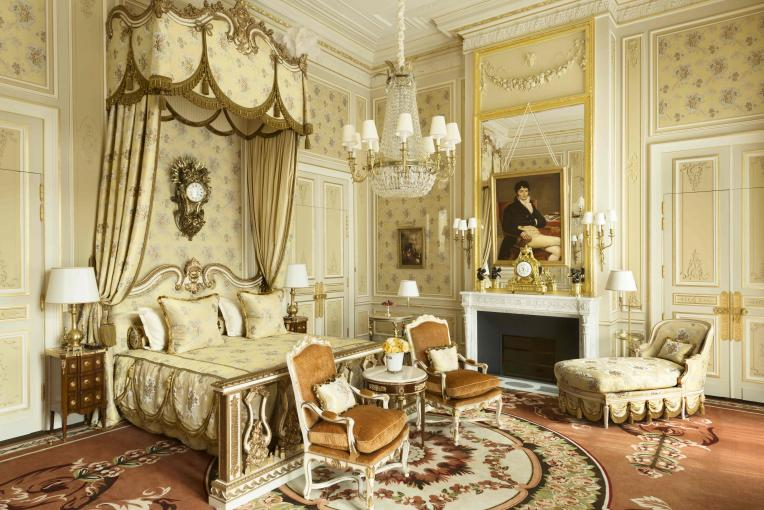 A Suite Impériale at the Ritz Paris. Photo: Vincent Leroux