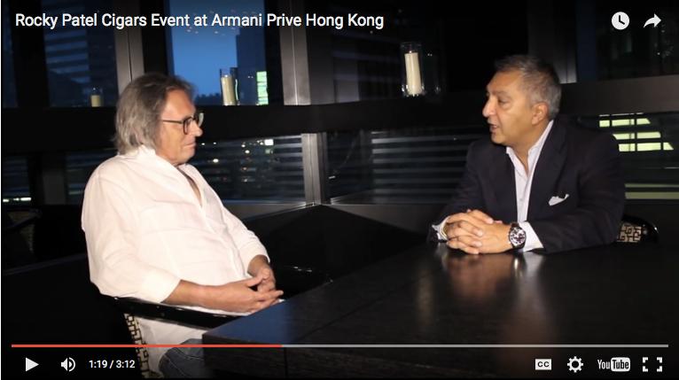 Rocky Patel Cigars Event at Armani Prive