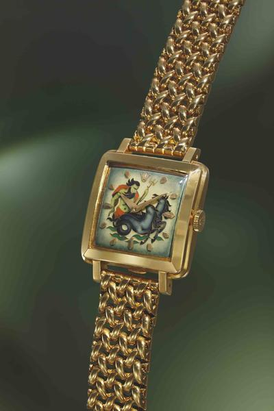 square dial society online features wristwatch s hk historic reference rolex cloisonn with the a on prestige watches block cloisonne enamel