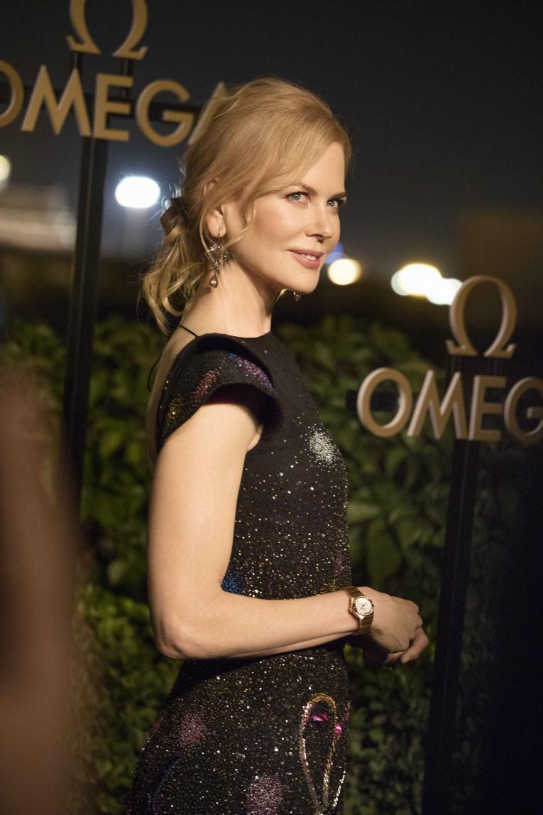 Nicole Kidman wearing the Omega Constellation Petite Seconde