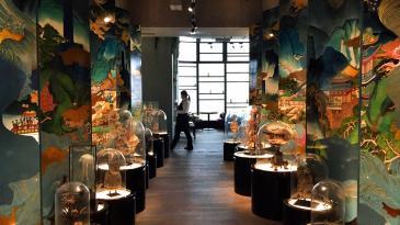 Interior decor at Seafood Room Hong Kong