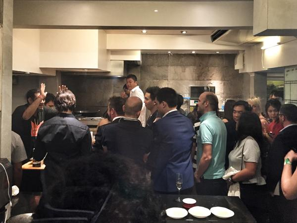 Gaggan Anand cooking up a storm at the after party